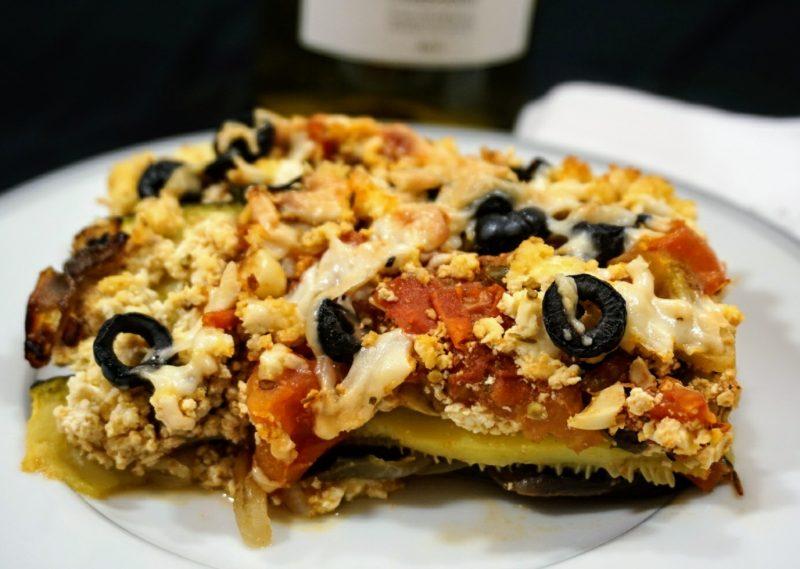 low carb mushroom spinach lasagna