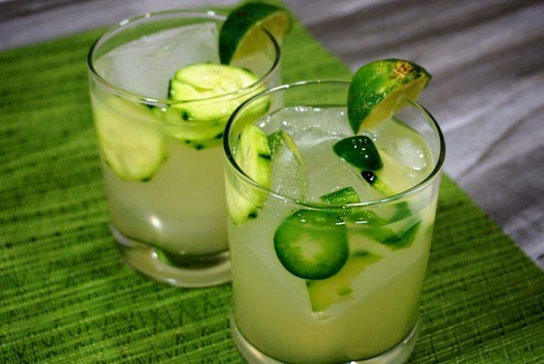 Skinny Cucumber Jalapeno Margarita