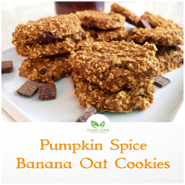 Pumpkin Spice Banana Oat Cookies