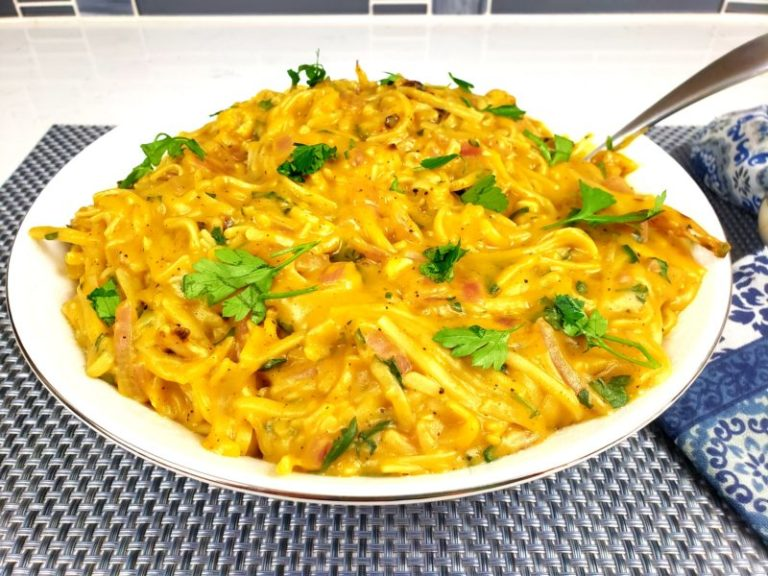 Pumpkin Pasta With Roasted Cauliflower