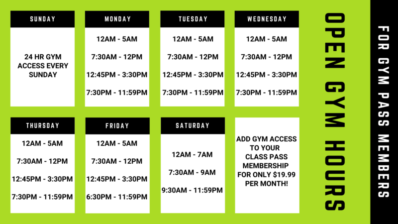 Green Zone Fitness Open Gym Hours